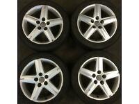 Audi A4 17 inch spoke alloy wheels & tyres vw passat caddy golf a3 Volkswagen Transporter T4