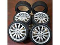 Genuine 22' Range Rover Overfinch Alloy Wheels + x2 Extra Tyres