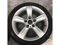 """BMW 5x120 17"""" 8j et47 alloy wheels pair x2. Style 119 drift"""