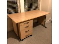 Office Computer Desk and Draws