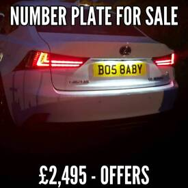 Private Number Plate Boss Baby