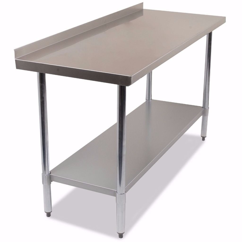 Stainless Steel Commercial Work Bench Kitchen Catering Table 1500mm