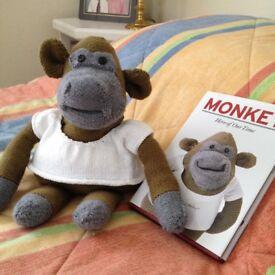PG Tips Monkey & book