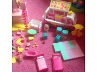 Shopkins houses, icecream trucks n loads of bits