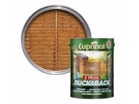 4 x Cuprinol Ducksback Autumn Gold 5L Unopened Surplus