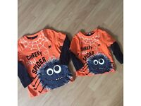 Boys Halloween tops 12 months and age 5 years matching