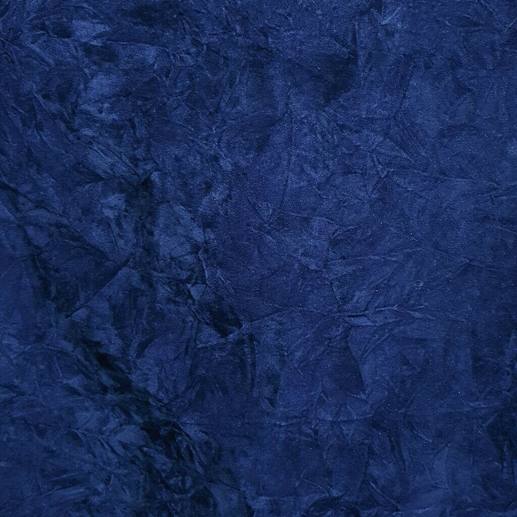 ROYAL BLUE CRUSHED VELVET FABRIC | UPHOLSERY TEXTURED VELVET 60