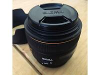 Sigma 30mm f1.4 EX DC HSM Digital DSLR Lens For Canon Mount with case