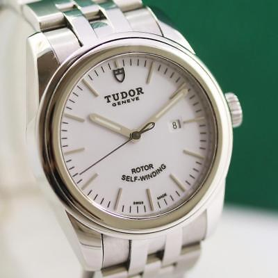 MID SIZE TUDOR GLAMOUR 53000 STAINLESS STEEL AUTOMATIC UNISEX WATCH