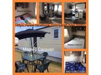 3 bed family caravan for hire Treccobay, porthcawl