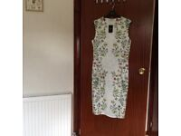 Ladies Next cream floral body on dress Size 14 Unworn