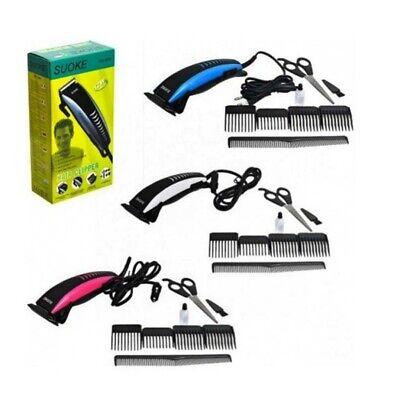 Máquina de cortar pelo eléctrica cortapelos con accesorios barba corta pelos