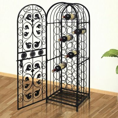 Metal Liquor Wine Cabinet Rack Shelf Stand Storage Closet Living Room Furniture