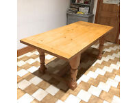 Solid Pine farmhouse style kitchen table for sale.