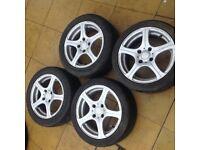185/55/15 on Peugeot alloy wheels