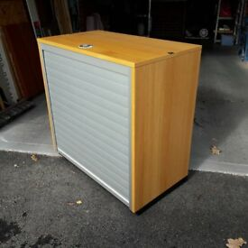 Metal Wardrobe/office cabinet shelves metal locking retractable ...