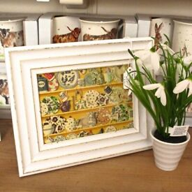 Emma Bridgewater inspired framed print 'The Dresser - Lion Yellow/Multi'