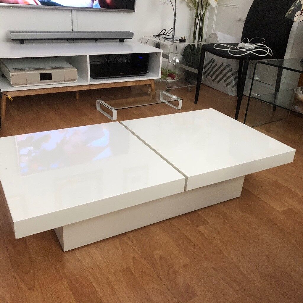 Dwell Two Block Storage Coffee Table In White In Chelsea London Gumtree