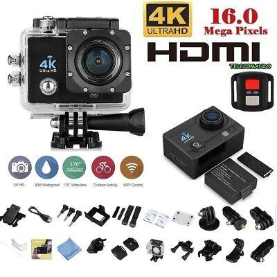 WEB CAM PRO SPORT ACTION CAMERA 4K WIFI HD 16MP VIDEOCAMERA TELECOMANDO WEBCAM