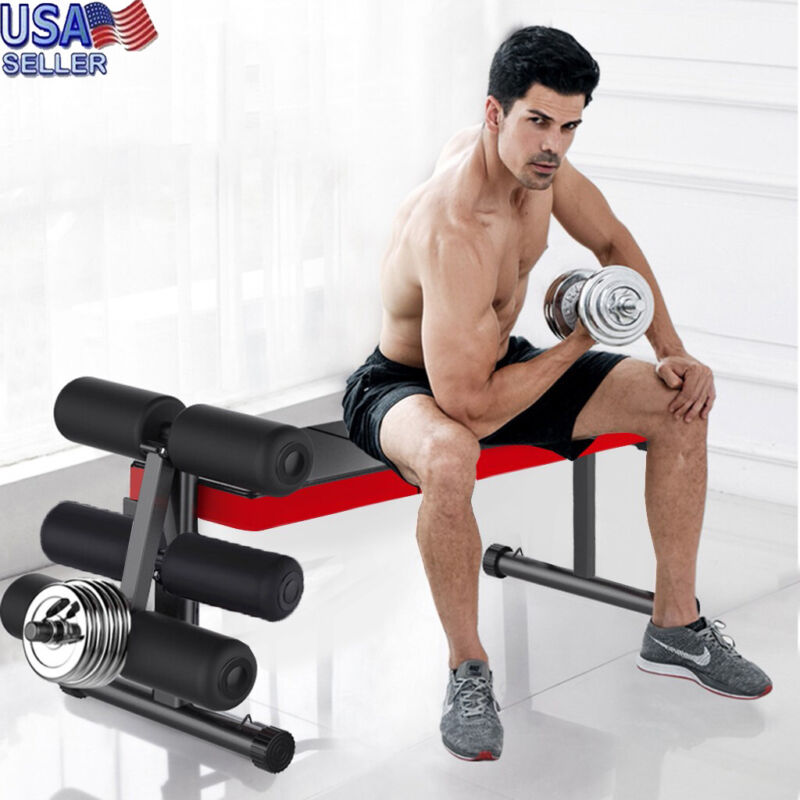 ADJUSTABLE LIFTING WEIGHT BENCH SET Weight Bench Barbell Lif