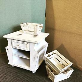 Shabby chic bed side table