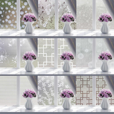 Frosted Sliding Glass Doors - Frosted Window Privacy Film Sliding Glass Door Self Adhesive Vinyl Decal STICKER