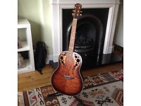 Wesley semi-acoustic guitar with Marlin guitarstand