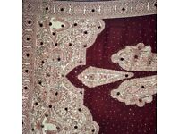 Urgently selling maroon asian shawl
