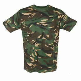 Mil-Com Kids British DPM T-Shirt Woodland