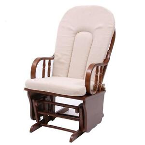 Poltrona sedia a dondolo in legno imbottita soggiorno Sedia a dondolo oscillante