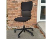 Re-upholstered Steelcase Operator Chair Black