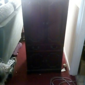 Old school Stereo / HIFI cabinet. Real wood... mahogany. nice bit of furniture