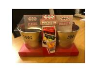 TGI Fridays Chip Buckets with flavoured salts - New in original packaging