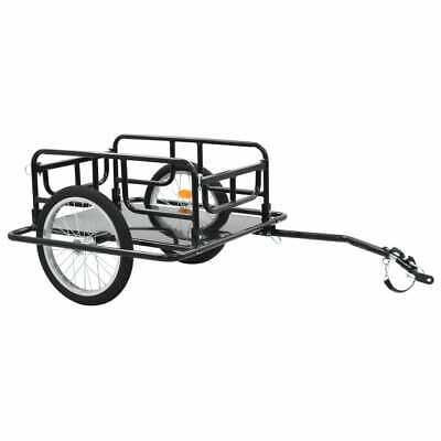 vidaXL Remolque para Bicicletas 130x73x48,5 cm Acero Negro Accesorios Ciclismo