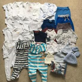 Baby Boy clothes bundle (newborn up to 3 months) - 30 items