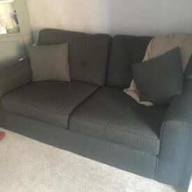 Full Ayda Sofa Set. 2 seater, 3 seater and two footstools. Immaculate condition - &