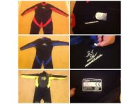 3 Wetsuits for sale