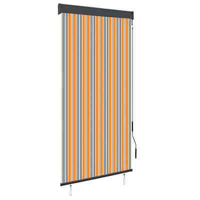 vidaXL Outdoor Vertical Roller Blind 100cm Yellow and Blue Balcony Awning