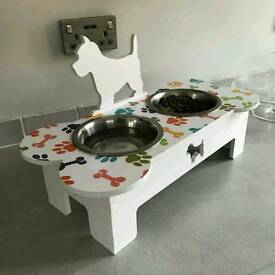Customised Elevated Dog Feeders Extra Small & Small (also available in medium & large)