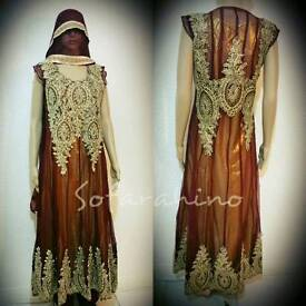 Asian PARTY EVENING WEDDING DRESS FULL STITCHED Indian Pakistani Shalwar kameez