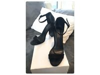 Black Topshop chunky heel - Size 5
