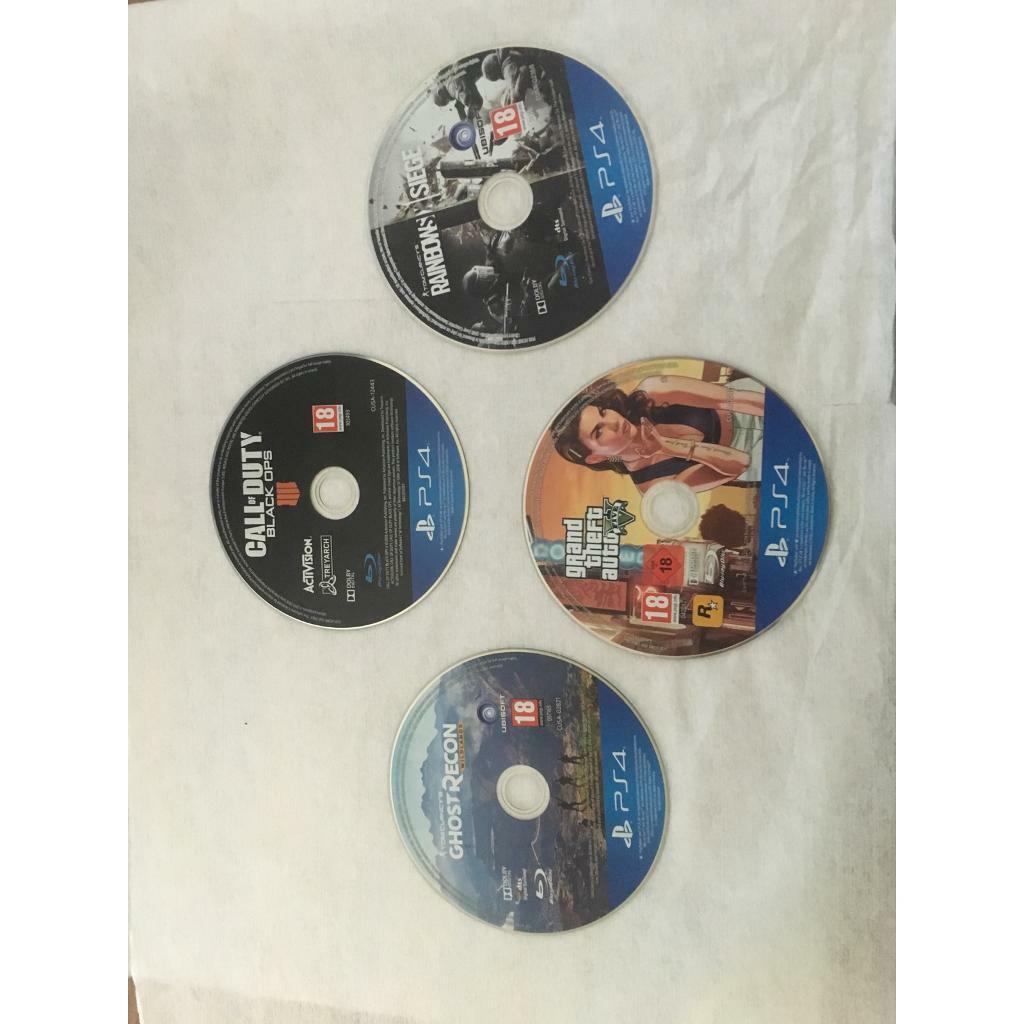 (PS4) GTA 5, Black ops 4, Rainbow Six Siege, Ghost Recon Wildlands   in  Basford, Nottinghamshire   Gumtree