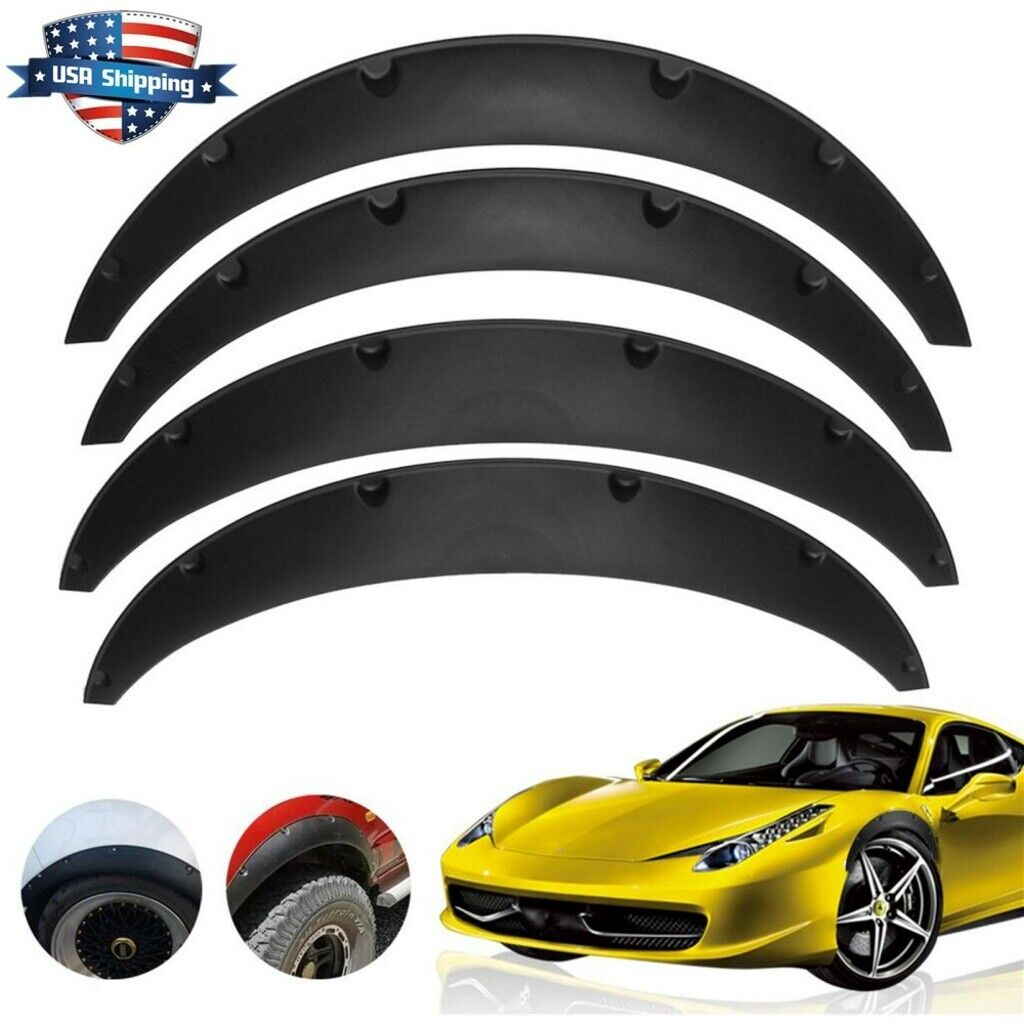 Universal 4pcs Car Fender Wheel Arches Flare extension flares wide Polyurethane