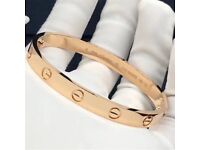 Cartier love bangle solid 18k gold