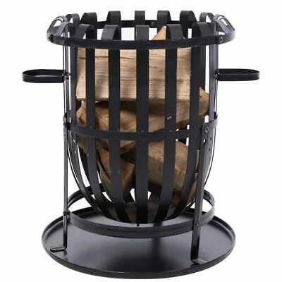 RedFire Fire Basket Dallas Black Steel Portable Fireplace Bowl Stove Heater