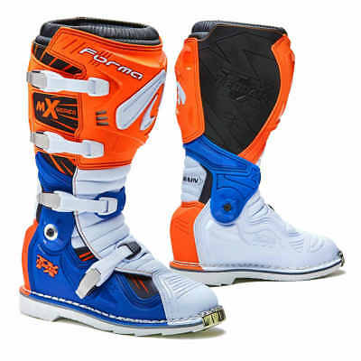 (Forma Terrain TX motocross boots, mens, blue, orange, all sizes, ktm, motorcycle)