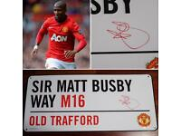 Ashley young signed pad sign