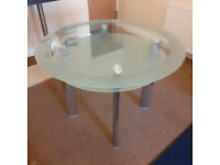 Heavy Glass dinning room table