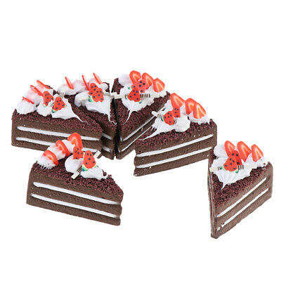 Set Of 6 Artificial Cake Lifelike Cake Model Fake Cake Decoration Chocolate