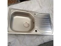 Stainless Steel single drainer sink,never been used very good condition,see photos